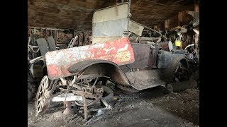 50 years of Classic Cars! Amazing Junkyard Farm Auction! part 1