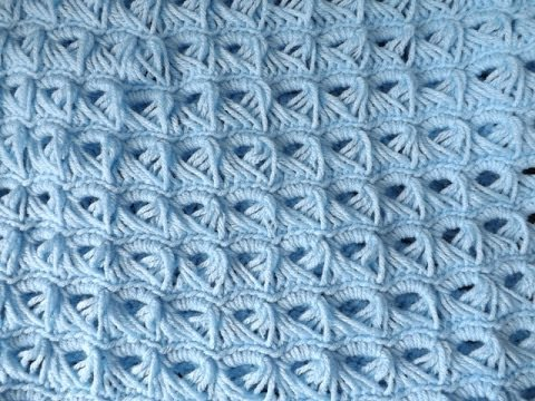 Crochet Baby Blanket Broom Stick Stich Youtube