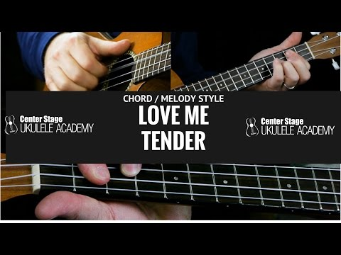 How To Play Love Me Tender on ukulele - Chord Melody style-Solo
