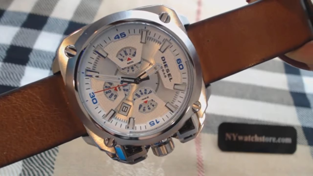 56b2624bbcc Men s Diesel BAMF Oversized Chronograph Watch DZ7357 - YouTube