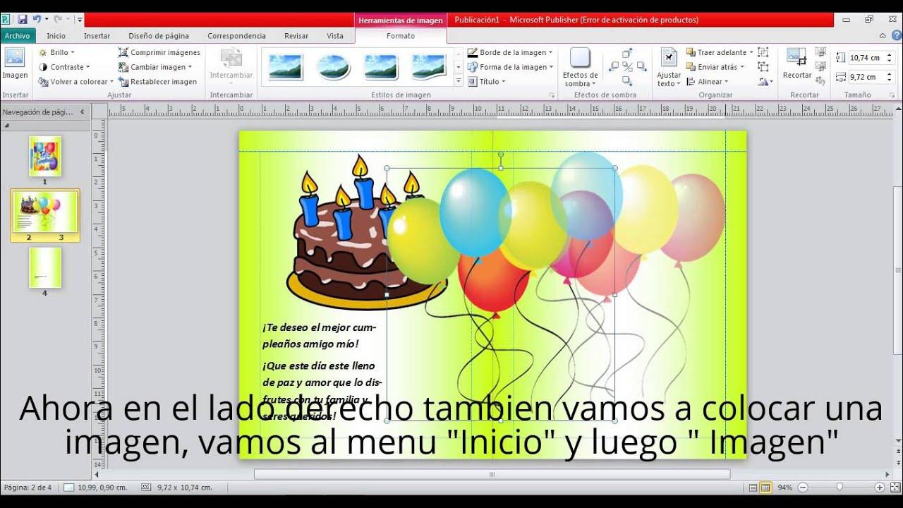 Cómo Hacer Una Tarjeta De Cumpleaños En Microsoft Publisher