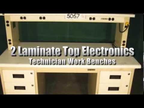 2 Laminate Top Electronics Technician Work Benches on GovLiquidation.com