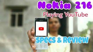NOKIA 216 (playing youtube) Unboxing & Reviews [HINDI]