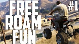 GTAV: Free Roam Fun #1 (GRAND THEFT AUTO 5 PC)