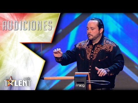 Jairo plays music with electromagnetic waves | Auditions 5 | Spain's Got Talent 2017