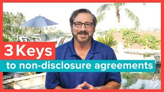 Non-Disclosure Agreements (NDAs) for Entrepreneurs | DON'T GET SCREWED!