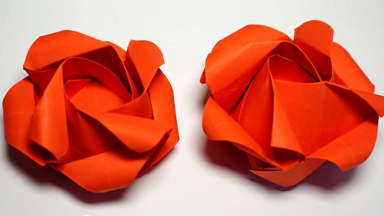 Easy Origami Rose tutorial - DIY (Henry Phạm) - YouTube - photo#49