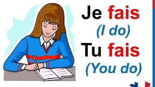 Обложка French Lesson 20 FAIRE TO DO Verb Conjugation Present Tense Conjugaison Indicatif Présent