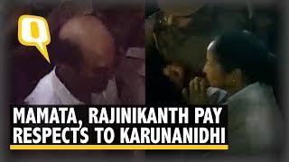 Mamta Banerjee, Rajinikanth Reach Karunanidhi's Residence to Pay Homage to Kalaignar | The Quint