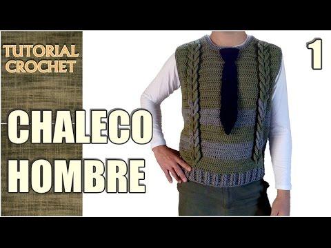 Chaleco para hombre tejido a crochet, paso a paso, patrón, tutorial ...