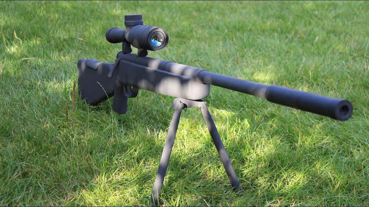 самодельная страйкбольная винтовка