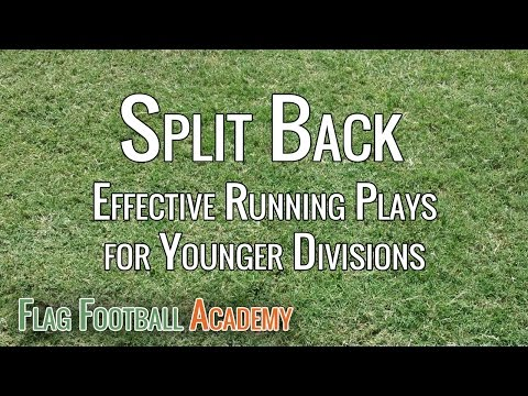 Split Back Formation Running Plays For Youth Flag Football