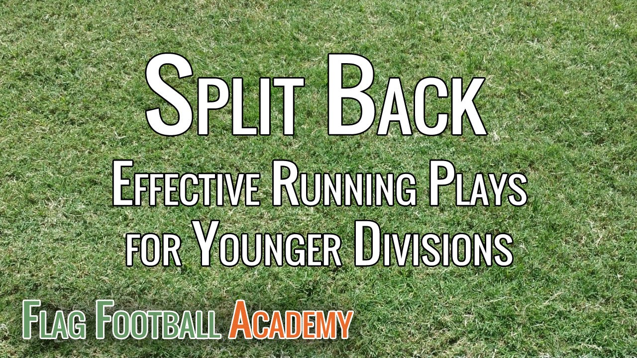Split Back Formation Running Plays For Youth Flag Football Youtube