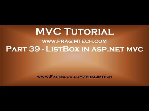 Part 39 ListBox in asp net mvc