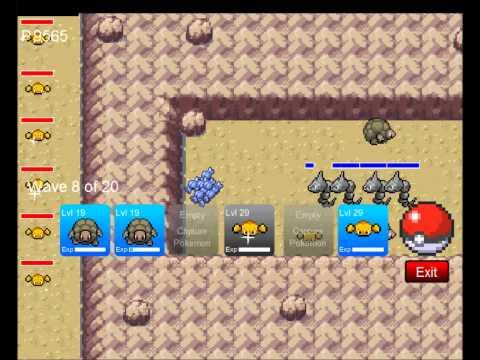 Pokemon Tower Defense, Challenge 3, Mt. moon,