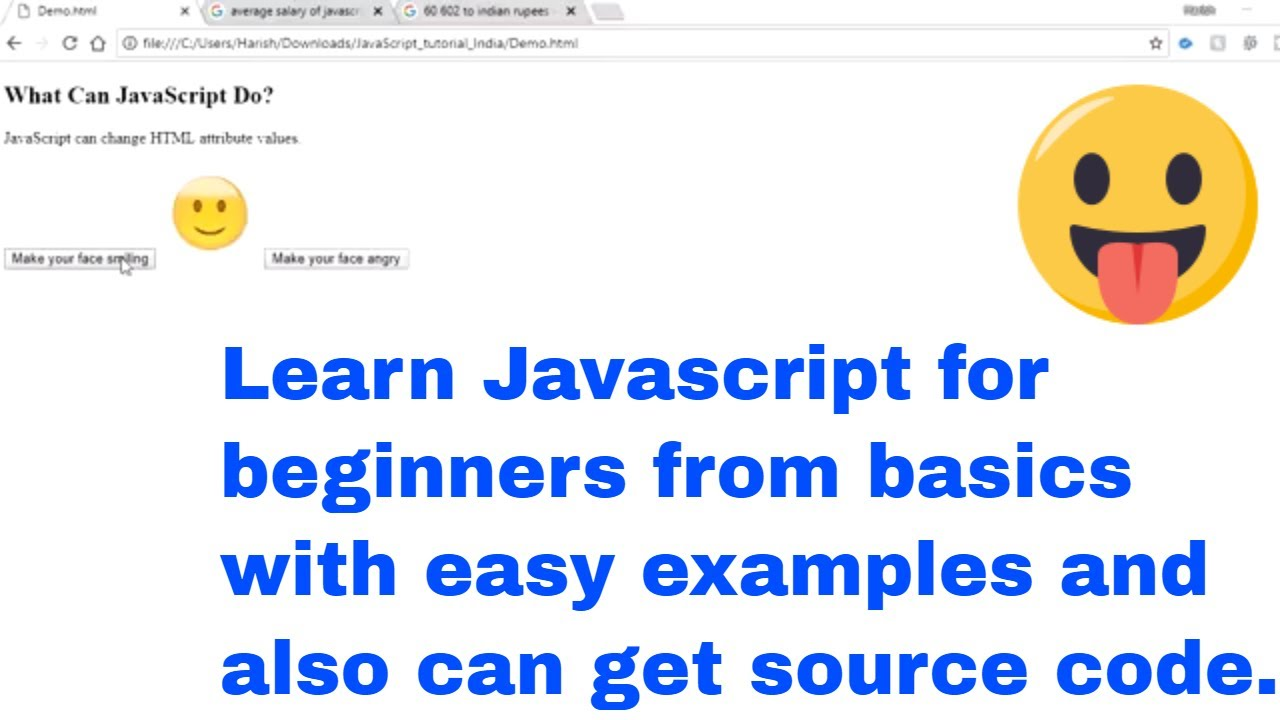 Learn Javascript for beginners | Tutorial | Easy way in steps, Basic to  Advanced website development