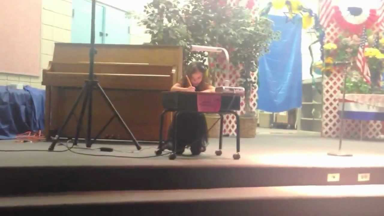 Emily Gjonola in talent show at Jim Thorpe Elementary - YouTube