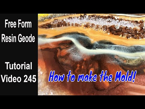 Easy Resin Geode step by step/ Full tutorial/ EDGES in a different way