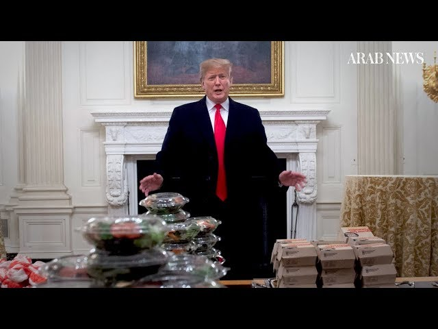 Shutdown meal? White House hosts college football champs with fast food dinner