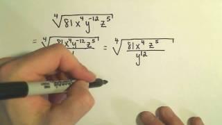 Simplifying Radical Expressions Involving Variables - Example 3 thumbnail