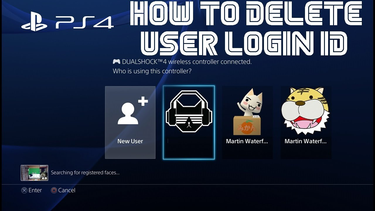 PS4 How to delete a user login ID - PlayStation 4 - YouTube
