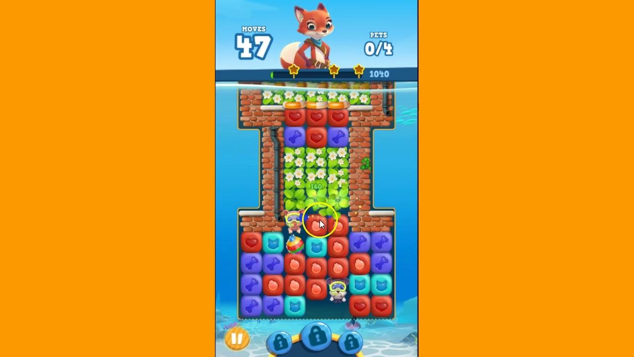 I GOT FREE GOLD BARS!!!! Pet Rescue Puzzle Saga Level 33 ~ 3 stars