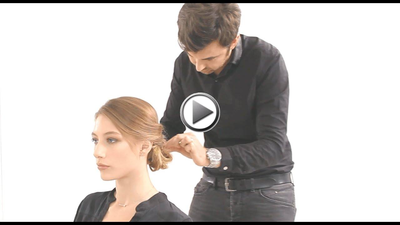 Tuto coiffure de fêtes : le chignon nœud - YouTube