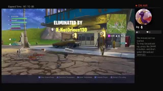Playing fortnite game on PS4