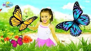 Voando com as borboletinhas   Desenho infantil   Bia e Henry Kids