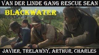 RDR2: Van Der Linde Gang Saves Sean from Blackwater (All Cutscenes)
