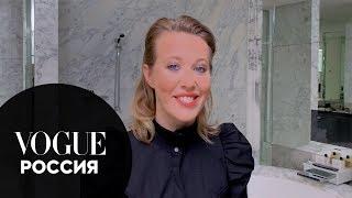 Секреты красоты Ксения Собчак показывает как сделать макияж для голубых глаз