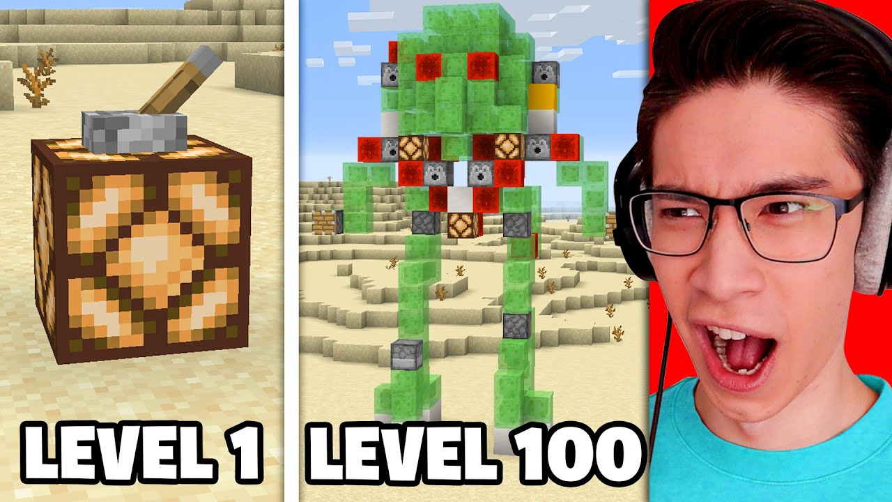 Testing Minecraft Redstone From Level 1 to Level 100