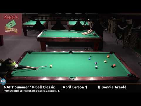 April Larson vs Bonnie Arnold  NAPT 2016 Summer 10Ball Classic