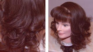 Как сделать локоны утюжком / How to make curls utjuzhkom