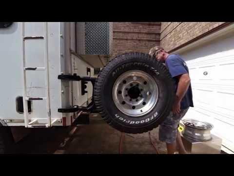 Box Truck Camper Retrofitting A Spare Tire Carrier 40