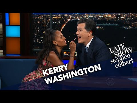 Kerry Washington Does Stephen's Makeup
