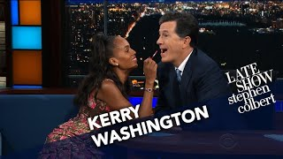 Kerry Washington Does Stephen's Makeup