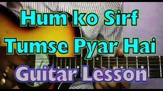 Humko Sirf Tumse Pyaar Hai Lead Guitar Lesson By Vikas Sharma   Easy Song Tutorial