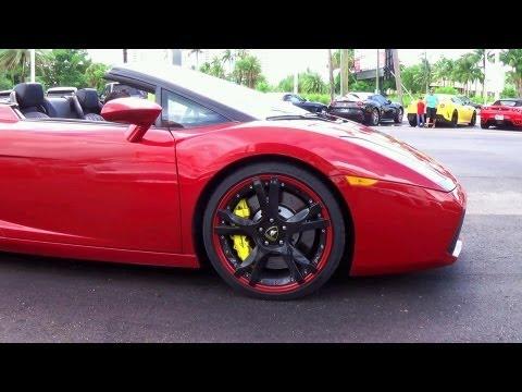 Lamborghini Gallardo Start up, Engine Loud Sound.