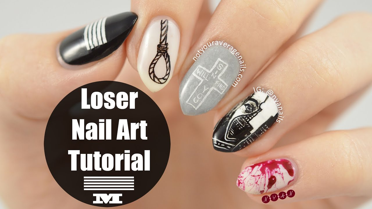 Big Bang Loser Nail Art Tutorial Youtube