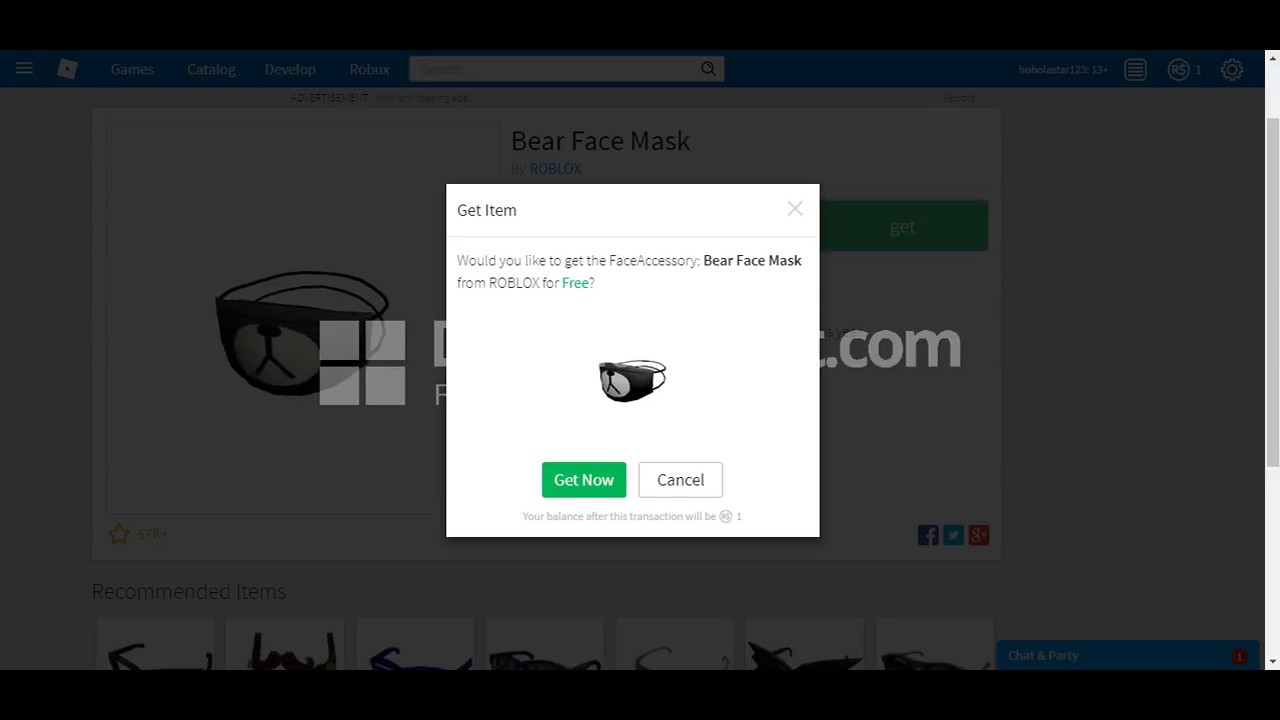 Roblox Panda Mask Code Free Roblox Promo Codes For Robux 2019