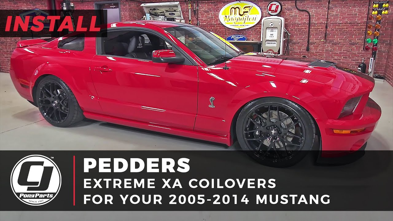 Mustang Pedders Adjustable Coilover Kit eXtreme Xa 2005-2014 Installation