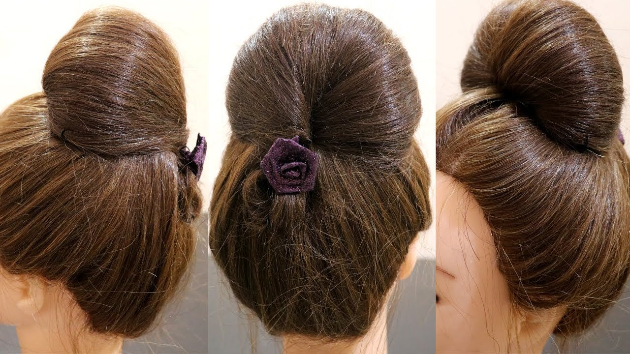 Bubble Bun Hairstyle Bun In 2 Minutes Easy Hairstyle For Medium