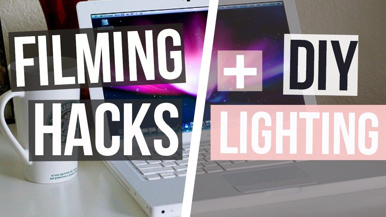 Filming Hacks+DIY LIGHTING!?   YouTube