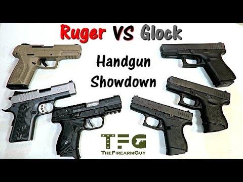 Ruger versus Glock - Handgun Showdown - TheFireArmGuy