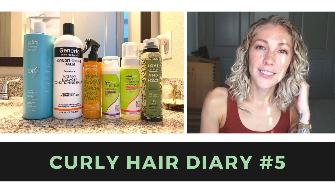 Curly Hair Diary #5 | Ion Hard Water Shampoo & Manes By Mell Volume  Technique