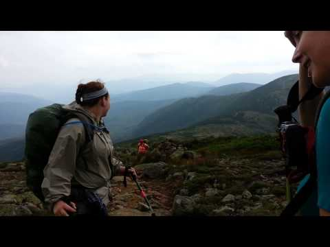 Presidential Range Hut to Hut Hike Part 1:  Highlands Center to Lake of the Clouds Hut
