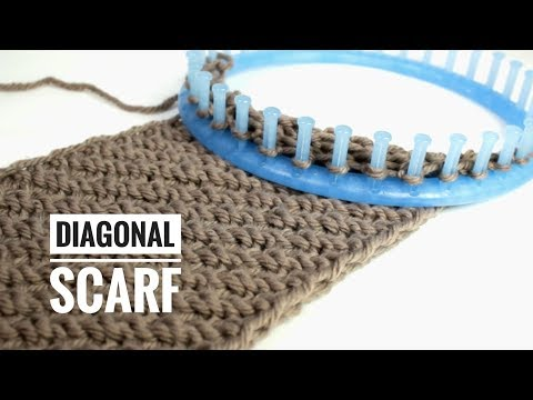 How to make a cowl neck scarf on a round loom