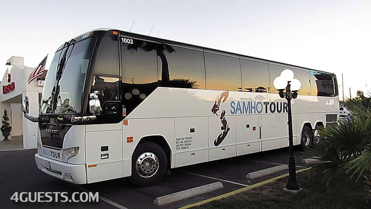 SAMHO TOUR PREVOST BUS KOREAN TRAVEL IN USA YouTube - Bus tours usa