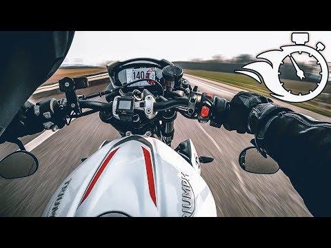 TRIUMPH STREET TRIPLE RS 2019 | TOP SPEED | 0-200 km/h | REPRISE 🔥